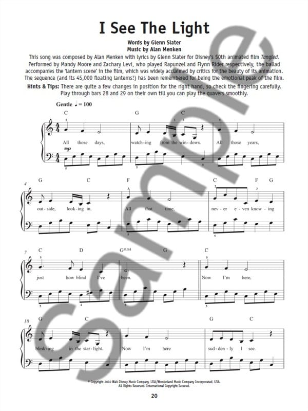 Really Easy Piano - Disney Hits de Hal Leonard