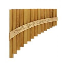 Instrument de Musique : Flûte de Pan - Instrument - FLUTE DE PAN Solist en Sol majeur à 15 tubes - Partition - di-arezzo.fr
