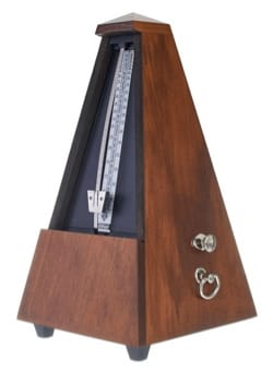 Métronome Mécanique WITTNER® - WITTNER Metronome: GLAZING WALNUT WOOD - With striking - Accessory - di-arezzo.co.uk