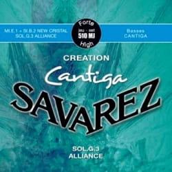 Cordes pour Guitare Classique - Juego de cuerdas para guitarra SAVAREZ CANTIGA CREATION BLUE tirando fuerte - Accesorio - di-arezzo.es