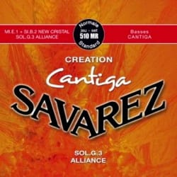 Cordes pour Guitare Classique - SET of Guitar Strings SAVAREZ CANTIGA CREATION RED standard pulling - Accessory - di-arezzo.co.uk
