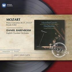 Wolfgang Amadeus MOZART - Concertos for Piano N ° 20, 21, 23 and 27 - D. BARENBOIM - Sheet Music - di-arezzo.com