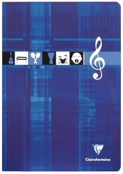 Papeterie Musicale - CLAIREFONTAINE Music Notebook - Music and Singing - A4 Size - Stationery - di-arezzo.co.uk