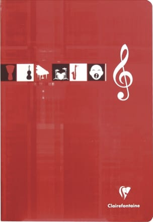 Papeterie Musicale - CLAIREFONTAINE Music Notebook - 10 staves - A4 size - Stationery - di-arezzo.com