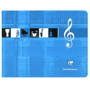 Papeterie Musicale - CLAIREFONTAINE Music Notebook - 6 Spans - Italian Format - Stationery - di-arezzo.co.uk