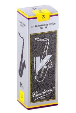 Anches pour Saxophone Ténor VANDOREN® - Box of 5 reeds VANDOREN V12 series for SAXOPHONE TENOR force 3 - Accessory - di-arezzo.co.uk