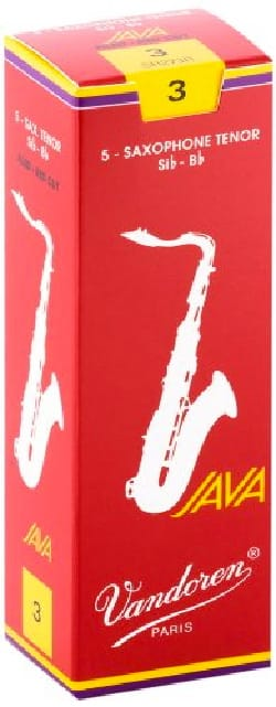 5 anches VANDOREN série JAVA RED pour SAXOPHONE TENOR force 3 laflutedepan