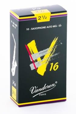 Boite de 10 anches VANDOREN série V16 pour SAXOPHONE ALTO force 2,5 laflutedepan