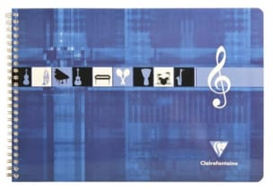 Papeterie Musicale - CLAIREFONTAINE Music Notebook - Italian Format - Stationery - di-arezzo.co.uk