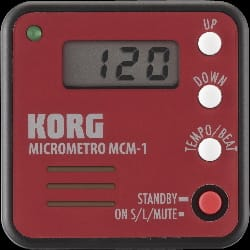 Métronome Electronique - Metronome Music Micrometro KORG Red - Accessory - di-arezzo.co.uk