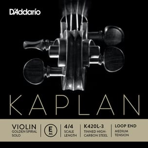 Cordes pour Violon - Rope Only: MI Violin KAPLAN GOLDEN SPIRAL Solo Solo - Tying MEDIUM - Accessory - di-arezzo.com