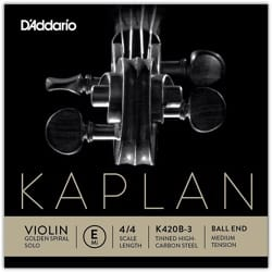 Cordes pour Violon - Rope Only: MI Violin KAPLAN GOLDEN SPIRAL Solo Ball - Tying MEDIUM - Accessory - di-arezzo.co.uk