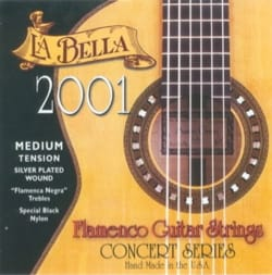 Cordes pour Guitare - Guitar String Set LA BELLA 2001 Flamenco - Medium Voltage - Accessory - di-arezzo.com