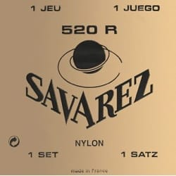 Cordes pour Guitare Classique - SET of Guitar Strings SAVAREZ 520R - Accessory - di-arezzo.com