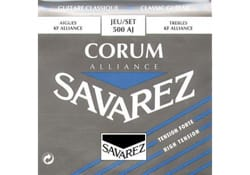 Cordes pour Guitare Classique - Guitar String Set SAVAREZ ALLIANCE CORUM BLUE pulling hard - Accessory - di-arezzo.com