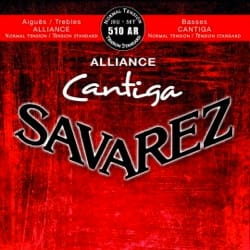 JEU de Cordes pour Guitare SAVAREZ CANTIGA ALLIANCE ROUGE tension normal laflutedepan