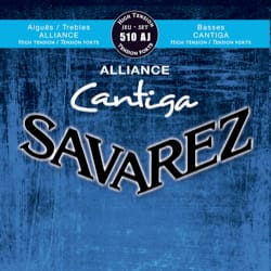 Cordes pour Guitare Classique - SET of Guitar Strings SAVAREZ CANTIGA ALLIANCE BLUE strong tension - Accessory - di-arezzo.co.uk