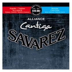 JEU de Cordes pour Guitare SAVAREZ CANTIGA ALLIANCE BLEU / ROUGE tension mixte laflutedepan