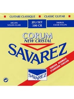 JEU de Cordes pour Guitare SAVAREZ NEW CRISTAL CORUM ROUGE tension normal laflutedepan