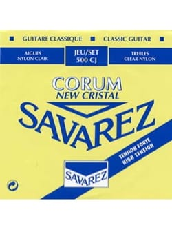 Cordes pour Guitare Classique - SET of Strings for Guitar SAVAREZ NEW CRYSTAL CORUM BLUE strong tension - Accessory - di-arezzo.com