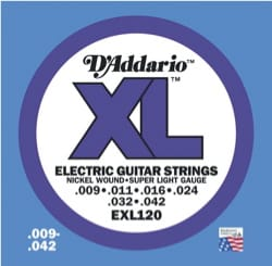 Cordes pour Guitare - 6 Strings EXL120 SET OF ADDARIO - Super Light 009-42 - Electric Guitar - Accessory - di-arezzo.com