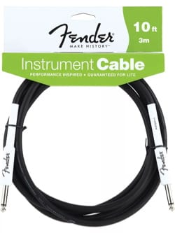 Cable Fender 3 mètres instrument performance noir laflutedepan