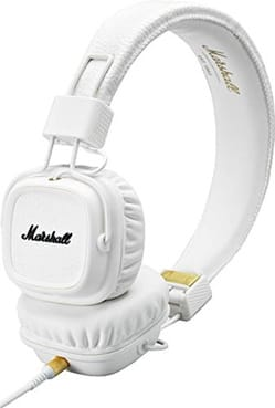 Accessoire pour Musicien - Marshall Major MKII white headphones for iphone, ipod, mp3 - Accessory - di-arezzo.co.uk