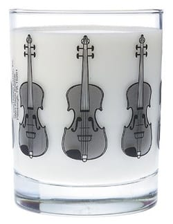 Cadeaux - Musique - Glass with violin pattern - Accessory - di-arezzo.co.uk