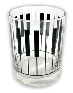 Cadeaux - Musique - Glass with keyboard pattern - Accessory - di-arezzo.co.uk