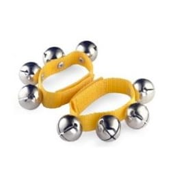 Jeu Musical pour enfant - Yellow nylon bracelet - 4 bells - Accessory - di-arezzo.co.uk