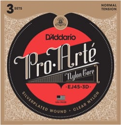 Cordes pour Guitare Classique - ADDARIO PRO ARTE String Set - 3 Sets Normal / Nylon Light-Plated Silver - Accessory - di-arezzo.co.uk