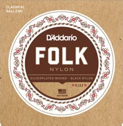 Cordes pour Guitare - ADDARIO FOLK NYLON String Set - Normal / Black-Silver Plated - Accessory - di-arezzo.com