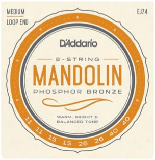 Cordes pour Mandoline - D'Addario Medium Mandolin String Set, Pulling 11-40 - Accessory - di-arezzo.co.uk