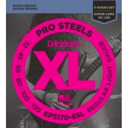 Jeu de 6 cordes D'Addario EPS170-6SL Pro Steels Super Long Scale Regular Light G laflutedepan