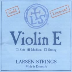 Corde Larsen de Mi Gold avec boucle Violon Synthetic / Fiber Core Medium laflutedepan