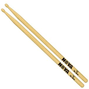 Baguettes de Batterie - Vic Firth Nova 7A Sticks American Hickory Olives Wood - Accessory - di-arezzo.co.uk
