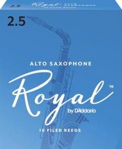 D'Addario Rico Royal - Anches Saxophone Alto 2.5 laflutedepan