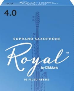 D'Addario Rico Royal - Anches Saxophone Soprano 4.0 laflutedepan