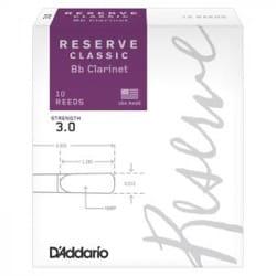 Anches pour Clarinette Sib - D'Addario Reserve Classic - Bb Clarinet Reeds 3.0 - Accessory - di-arezzo.co.uk