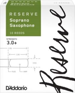 D'Addario Réserve - Anches Saxophone Soprano 3+ - laflutedepan.com