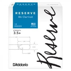 Anches pour Clarinette Sib - D'Addario Reserve - Bb clarinet reeds 3.5 - Accessory - di-arezzo.co.uk