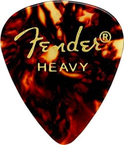 Médiators Fender Shape Classic Celluloid Heavy Shell pack de 12 forme 346 - laflutedepan.com