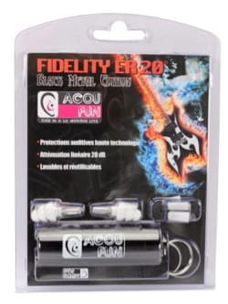 Protections auditives ACOUFUN - 20dB Black Metal Edition laflutedepan