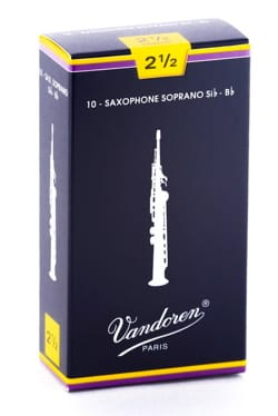 Anches pour Saxophone Soprano VANDOREN® - Vandoren SR2025 - Sopransaxophonblätter 2.5 - Musikzubehör - di-arezzo.de