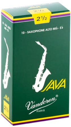 Anches pour Saxophone Alto VANDOREN® - Box of 10 reeds VANDOREN series JAVA for SAXOPHONE ALTO force 2,5 - Accessory - di-arezzo.com