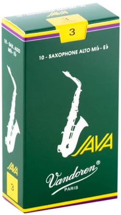 Anches pour Saxophone Alto VANDOREN® - Box of 10 reeds VANDOREN JAVA series for SAXOPHONE ALTO force 3 - Accessory - di-arezzo.com