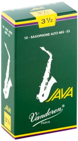 Boite de 10 anches VANDOREN série JAVA pour SAXOPHONE ALTO force 3,5 laflutedepan