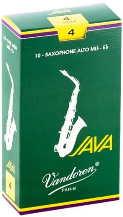 Boite de 10 anches VANDOREN série JAVA pour SAXOPHONE ALTO force 4 laflutedepan