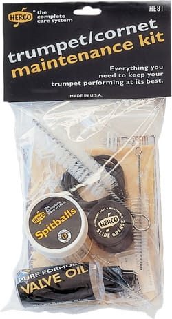 Accessoire pour Instruments à vents Cuivres - HERCO maintenance kit for TRUMPET or CORNET - Accessory - di-arezzo.co.uk