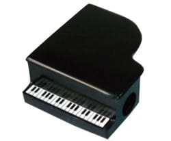 Cadeaux - Musique - Black pencil sharpener in the shape of a piano - Accessory - di-arezzo.com